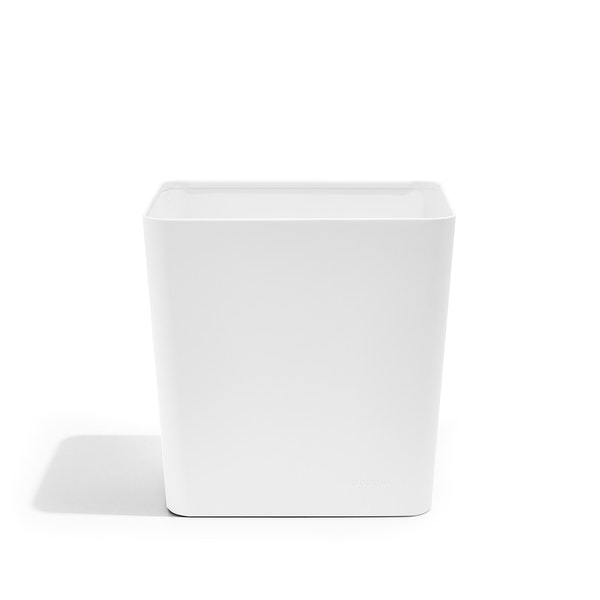 White Trash Can,White,hi-res