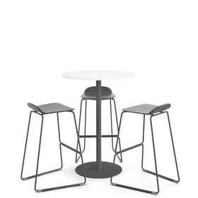 White + Charcoal Tucker Standing Table,White,hi-res