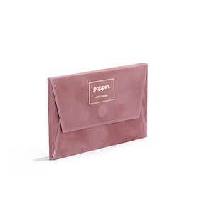Dusty Rose Velvet Card Case,Dusty Rose,hi-res