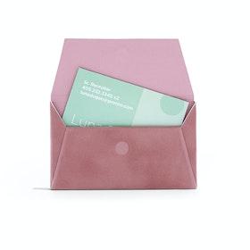 Dusty Rose Velvet Card Case,Dusty Rose,hi-res