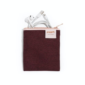 Wine Medium Cord Pouch