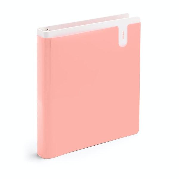"""Blush 1"""" Pocket Binder,Blush,hi-res"""