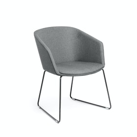 Gray Pitch Sled Chair,Gray,hi-res