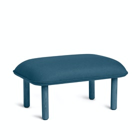 Dark Blue QT Privacy Lounge Ottoman
