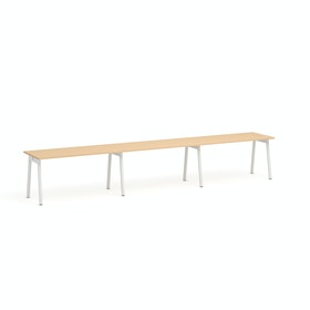 Series A Single Desk For 3, White Legs