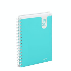 Aqua Medium 18-Month Pocket Book Planner, 2019-2020,Aqua,hi-res