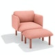 Blush QT Privacy Lounge Ottoman,Blush,hi-res