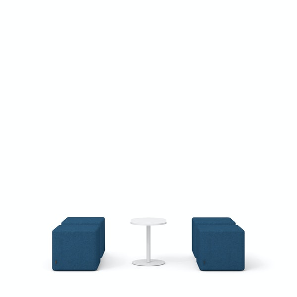 Dark Blue Block Party Lounge Ottomans + Tucker Side Table Set,Dark Blue,hi-res