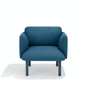 Dark Blue QT Lounge Low Chair