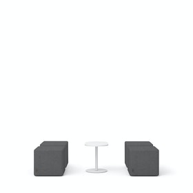 Dark Gray Block Party Lounge Ottomans + Tucker Side Table Set