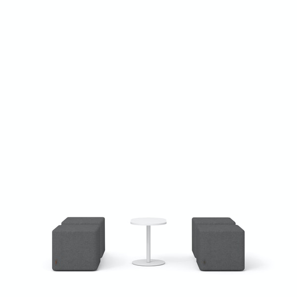 Dark Gray Block Party Lounge Ottomans + Tucker Side Table Set,Dark Gray,hi-res