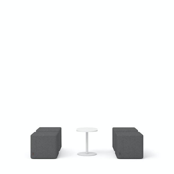 Dark Gray Block Party Lounge Ottomans + Tucker Side Table Set,Dark Gray,hi-res