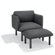 Dark Gray QT Lounge Ottoman,Dark Gray,hi-res