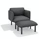 Dark Gray QT Privacy Lounge Ottoman,Dark Gray,hi-res