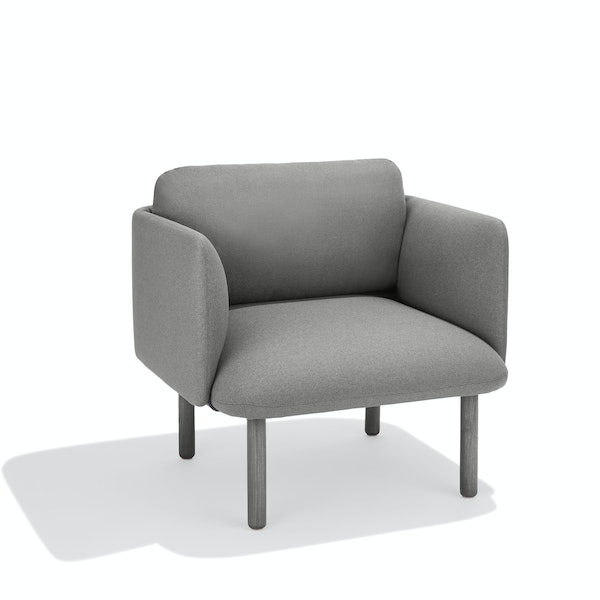 Gray QT Lounge Low Chair,Gray,hi-res