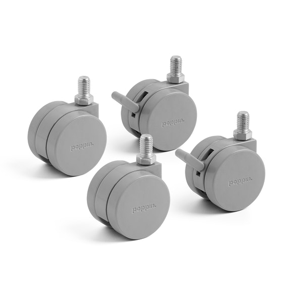 Gray Stow File Cabinet Casters, Set of 4,,hi-res