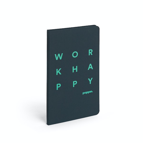 Lagoon Work Happy Hard Cover Journal,Lagoon,hi-res