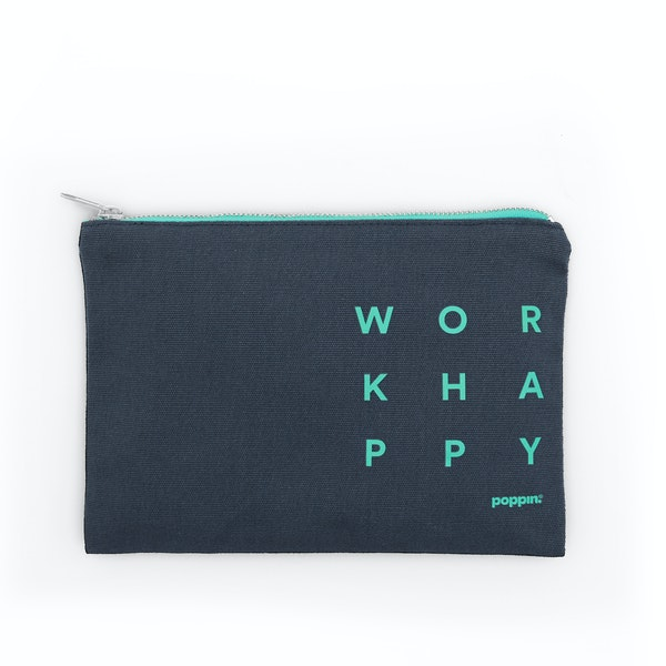 Lagoon + Turquoise Work Happy Slim Pouch,Lagoon,hi-res