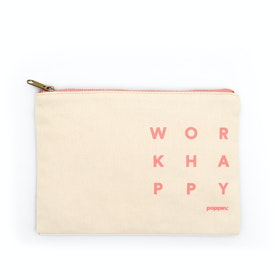 Natural + Guava Work Happy Slim Pouch,Natural,hi-res