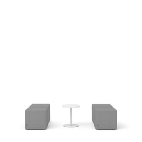 Gray Block Party Lounge Ottomans + Tucker Side Table Set