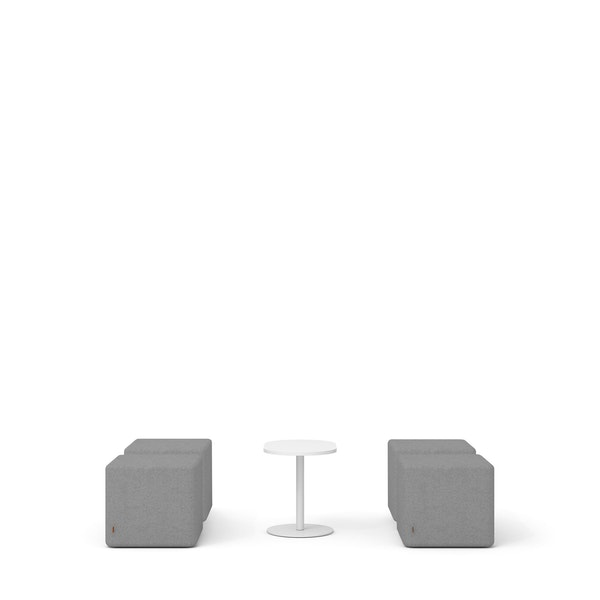 Gray Block Party Lounge Ottomans + Tucker Side Table Set,Gray,hi-res