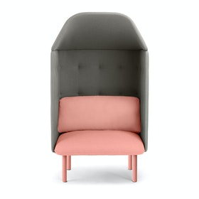 Blush + Gray QT Privacy Lounge Chair with Canopy