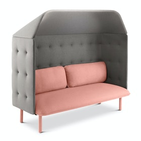 Blush + Gray QT Privacy Lounge Sofa with Canopy