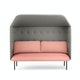 Blush + Gray QT Privacy Lounge Sofa with Canopy,Blush,hi-res