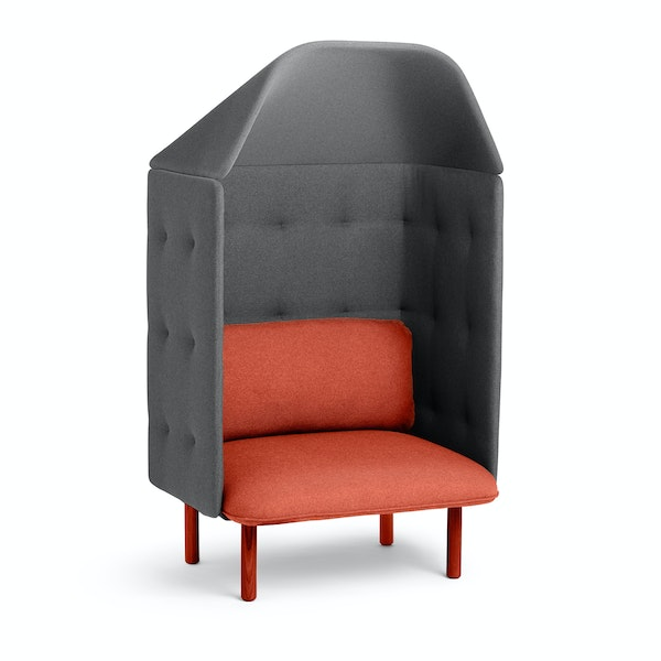 Brick + Dark Gray QT Privacy Lounge Chair with Canopy,Brick,hi-res
