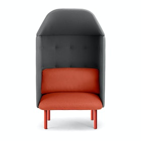 Brick + Dark Gray QT Privacy Lounge Chair with Canopy