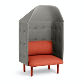 Brick + Gray QT Privacy Lounge Chair with Canopy