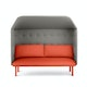 Brick + Gray QT Privacy Lounge Sofa with Canopy,Brick,hi-res
