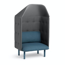 Dark Blue + Dark Gray QT Privacy Lounge Chair with Canopy