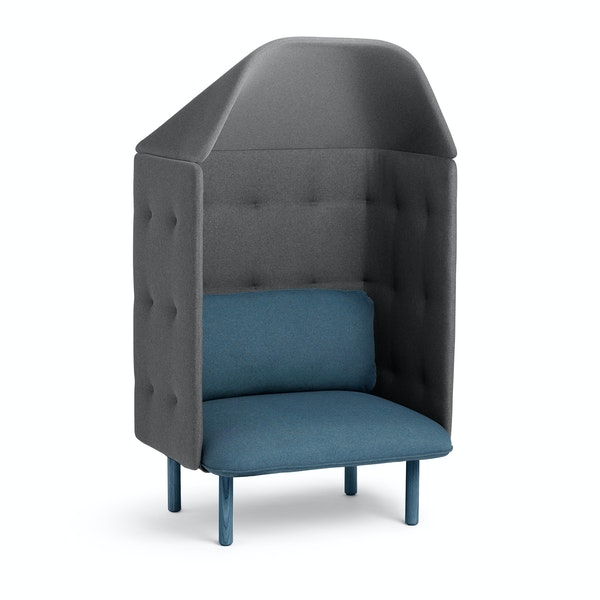 Dark Blue + Dark Gray QT Privacy Lounge Chair with Canopy,Dark Blue,hi-res