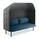 Dark Blue + Dark Gray QT Privacy Lounge Sofa with Canopy,Dark Blue,hi-res