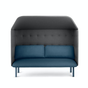 Dark Blue + Dark Gray QT Privacy Lounge Sofa with Canopy