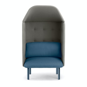 Dark Blue + Gray QT Privacy Lounge Chair with Canopy