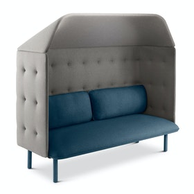 Dark Blue + Gray QT Privacy Lounge Sofa with Canopy
