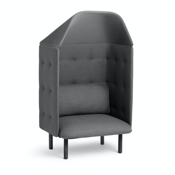 Dark Gray QT Privacy Lounge Chair with Canopy,Dark Gray,hi-res