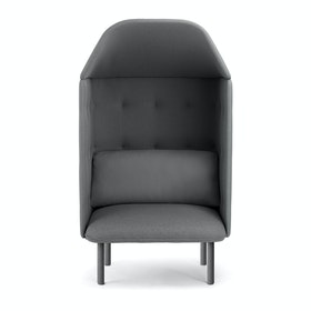 Dark Gray QT Privacy Lounge Chair with Canopy