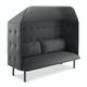 Dark Gray QT Privacy Lounge Sofa with Canopy,Dark Gray,hi-res