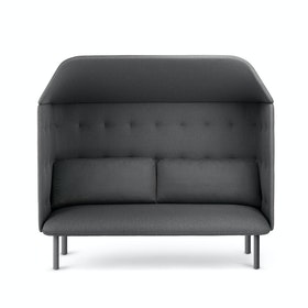 Dark Gray QT Privacy Lounge Sofa with Canopy