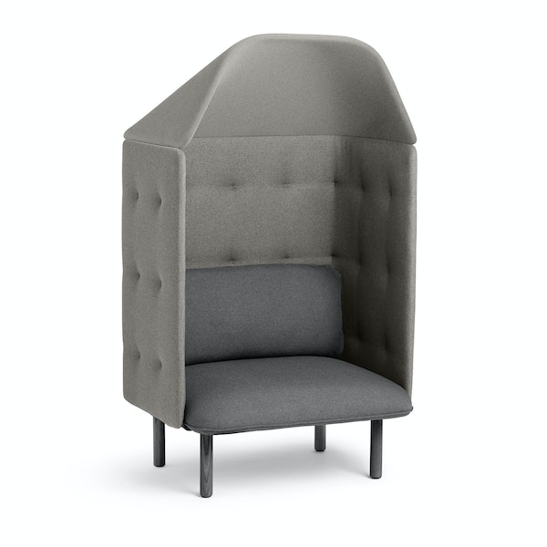 Dark Gray + Gray QT Privacy Lounge Chair with Canopy,Dark Gray,hi-res
