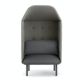 Dark Gray + Gray QT Privacy Lounge Chair with Canopy