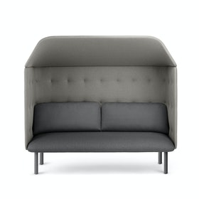 Dark Gray + Gray QT Privacy Lounge Sofa with Canopy