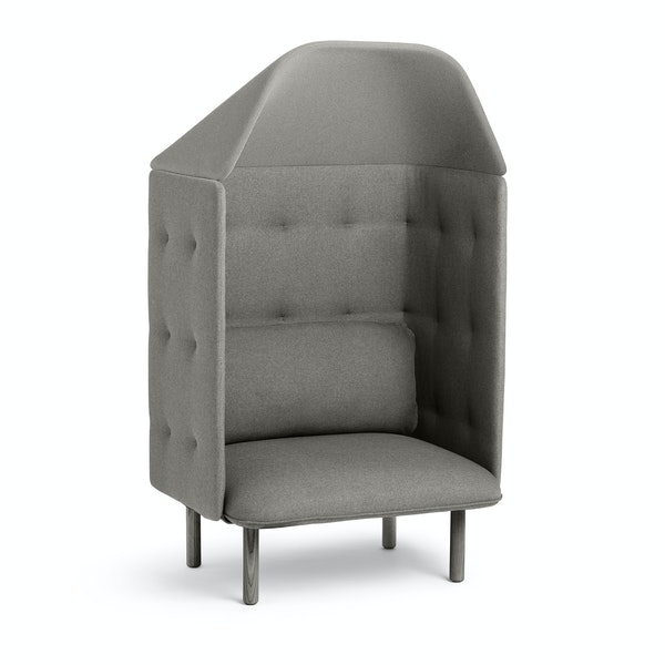 Gray QT Privacy Lounge Chair with Canopy,Gray,hi-res