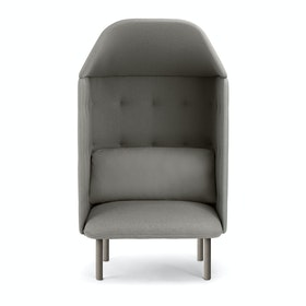 Gray QT Privacy Lounge Chair with Canopy