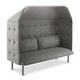 Gray QT Privacy Lounge Sofa with Canopy,Gray,hi-res