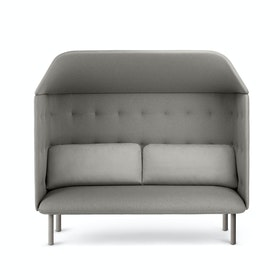 Gray QT Privacy Lounge Sofa with Canopy
