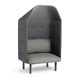 Gray + Dark Gray QT Privacy Lounge Chair with Canopy